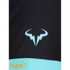 47246b6456 Camiseta Nike Challenger Premier Rafa Crew Verde Água e Preta - Rafael Nadal.  Código  646097 437