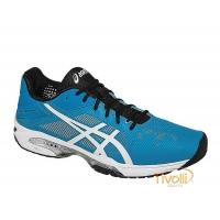 Mega Saldão - Tênis Asics. Gel Solution Speed 3 Azul e Branco 0fefef9cde0fc