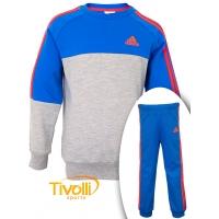 ffbe1d4eccb Agasalho infantil Adidas Crew Jogger Performance