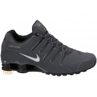 23b17bb5219 Raquete Mania   Tênis Nike Shox NZ   Cinza Chumbo e Prata