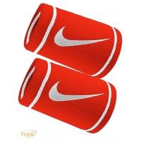 Munhequeira Nike Dri-Fit Doublewide Wristbands. Vermelha e Branca 0c7dd02569c