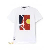 Camiseta Lacoste. Roland Garros Branca Estampada 8958ca8693