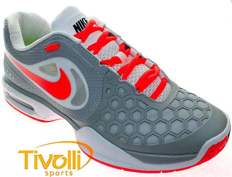 the latest 408d7 57f53 Tênis Nike Air Max CourtBallistec 4.3 Cinza Laranja - Ref  487986-081