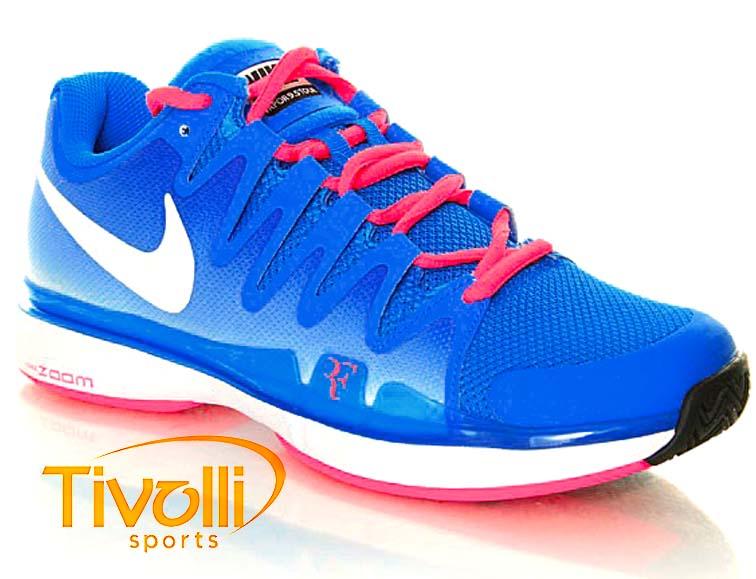 f95f64c1b7b Tênis Nike Zoom Vapor 9.5 Tour Roger Federer Azul e Rosa. Código  631458-416