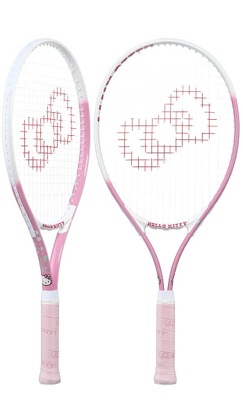 2cd160ea5 Raquete Mania   Raquete de Tênis Infantil Hello Kitty   25 Rosa