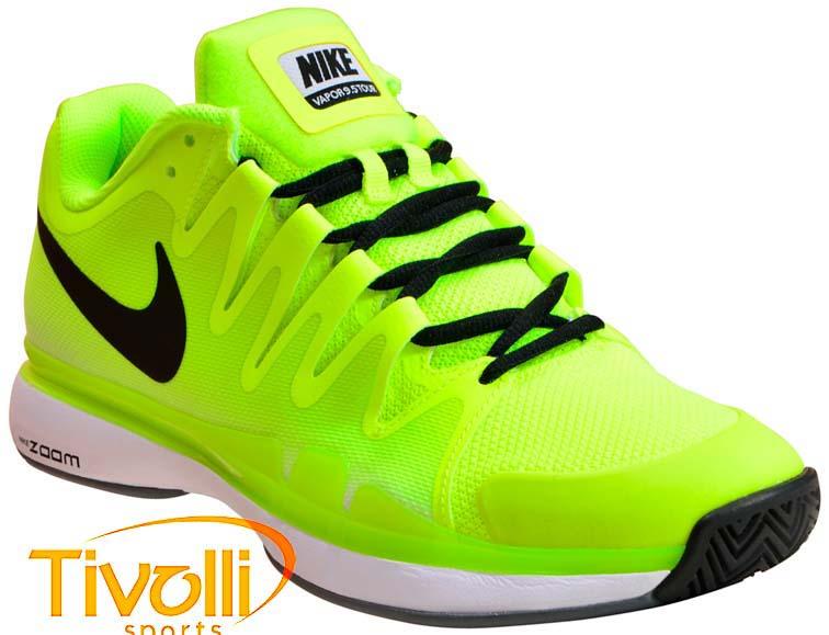 b8675c523a9 Tênis Nike Zoom Vapor 9.5 Tour Limão e Preto - Roger Federer. Código  631458 -701