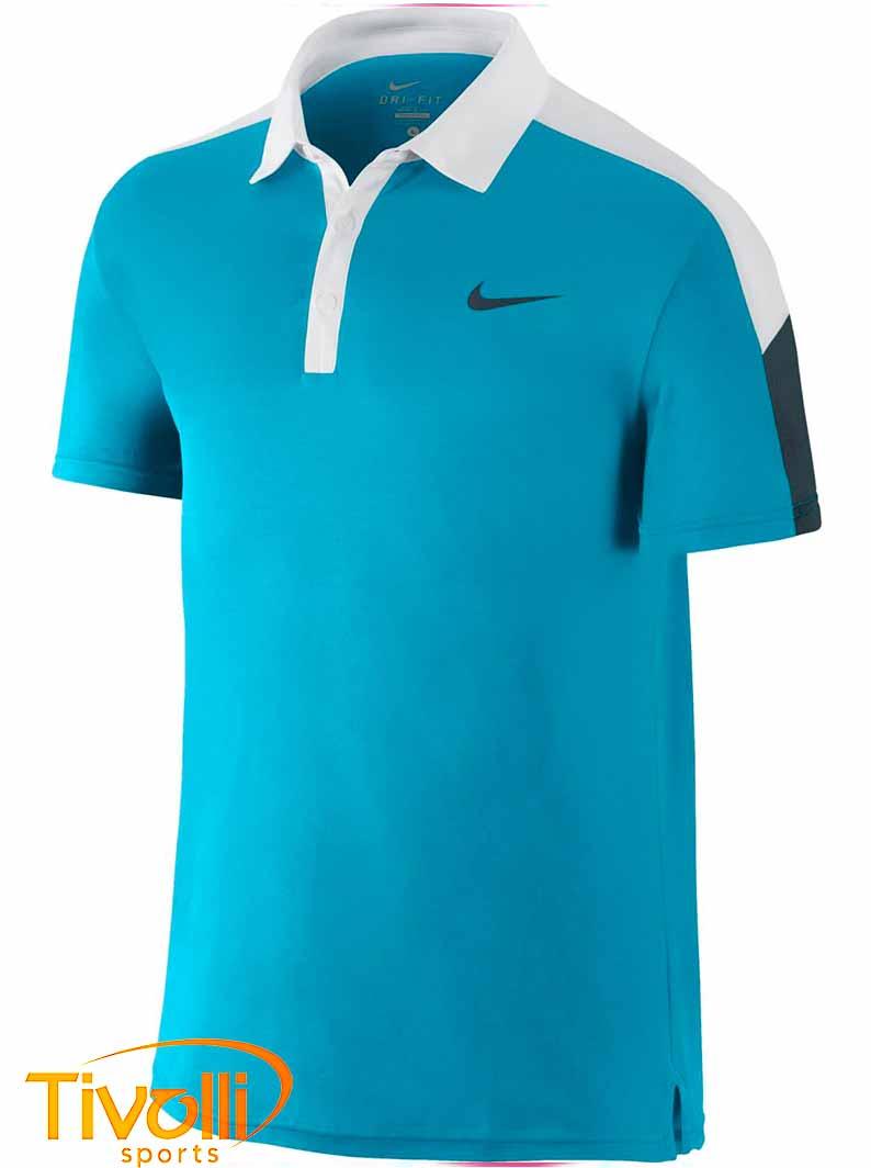 Raquete Mania   Camisa Polo Nike   Team Court Azul 1af3567826855