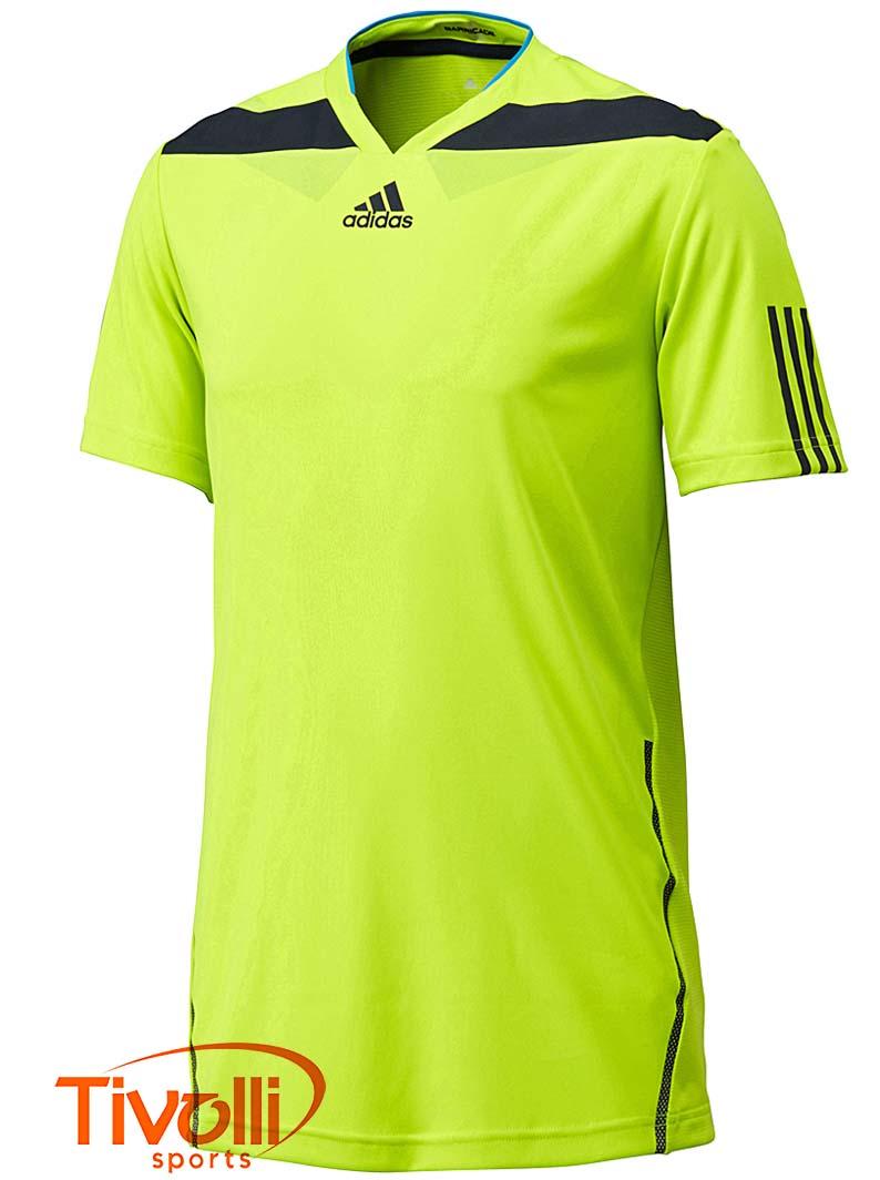 Raquete Mania   Camiseta adidas   Barricade Verde Limão D84530   84b949b1e4499