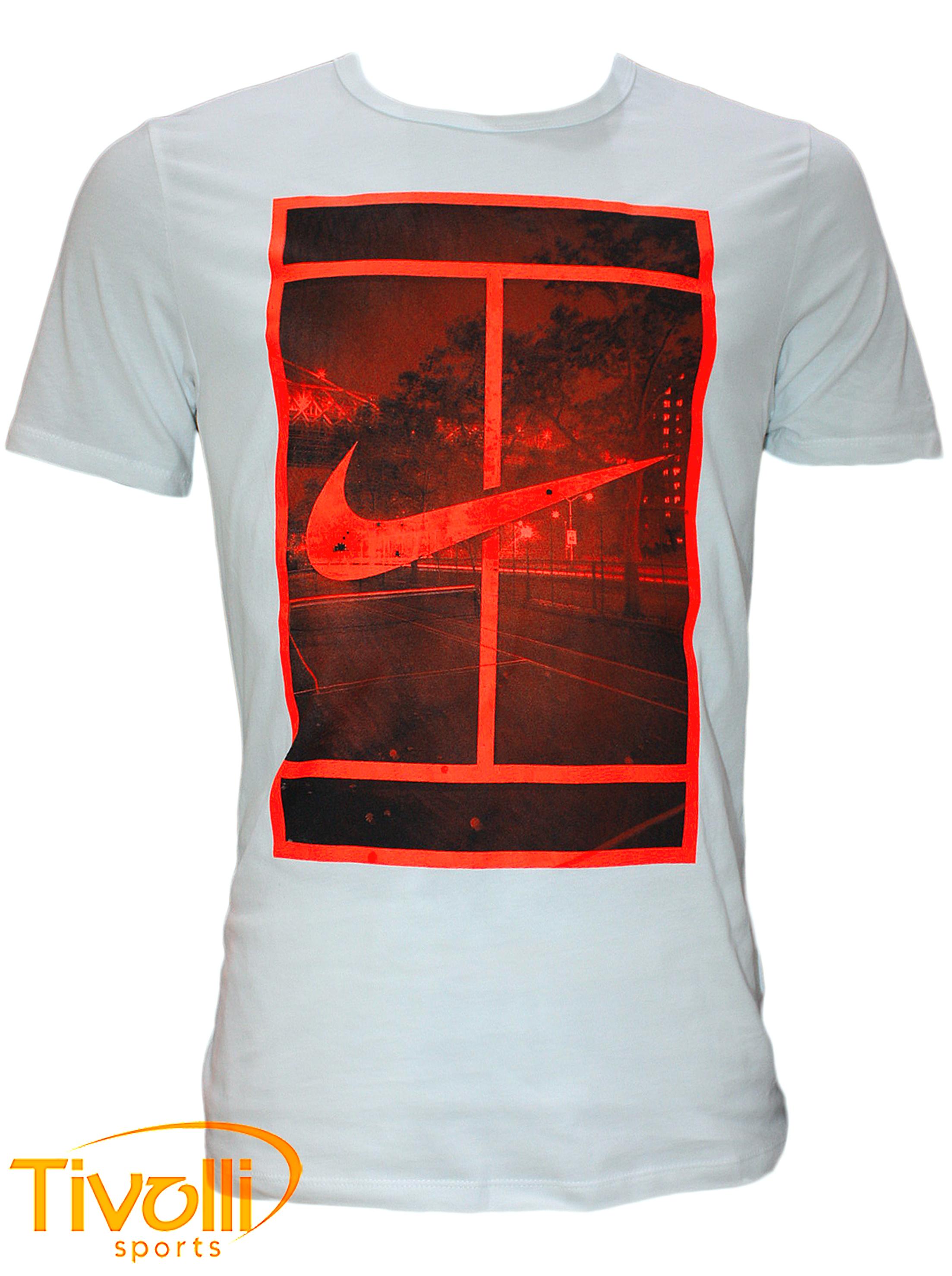 e8322667624 Camiseta Nike Court Branca com Estampa - Roger Federer - US Open 2015