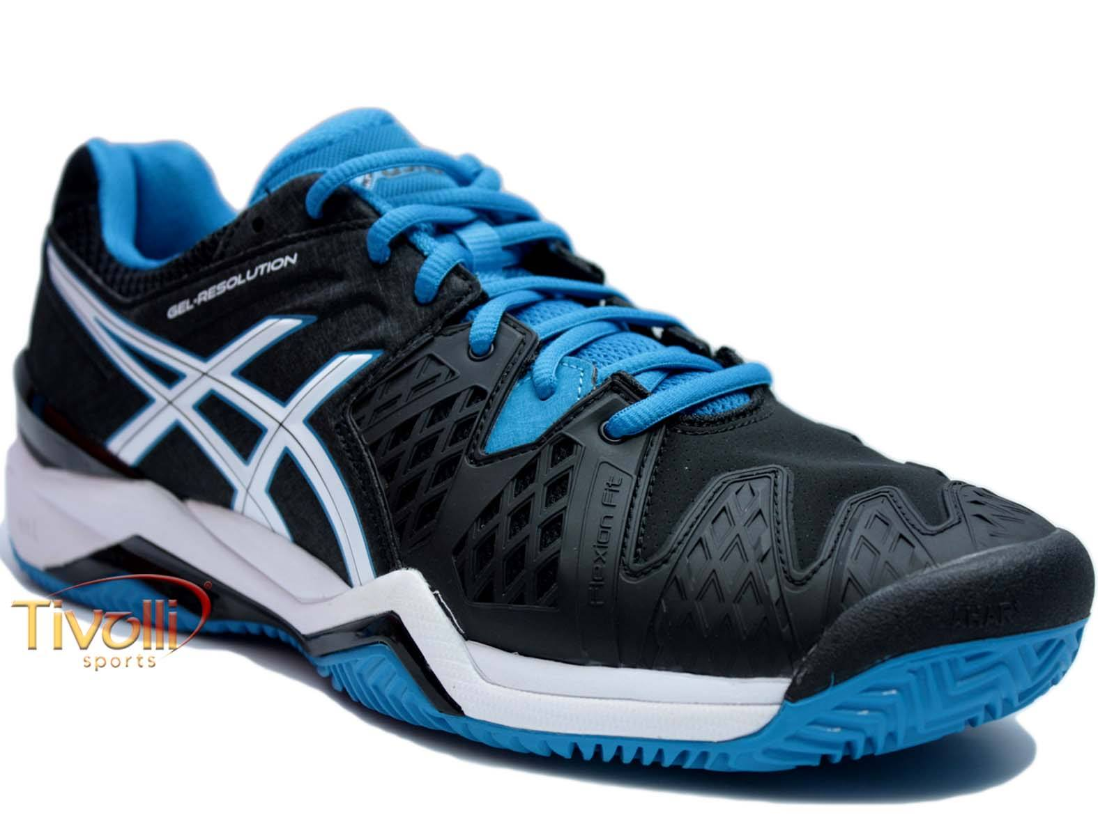 Raquete Mania   Tênis Asics   Gel Resolution 6 Clay Preto a3cd2e2c1abc0