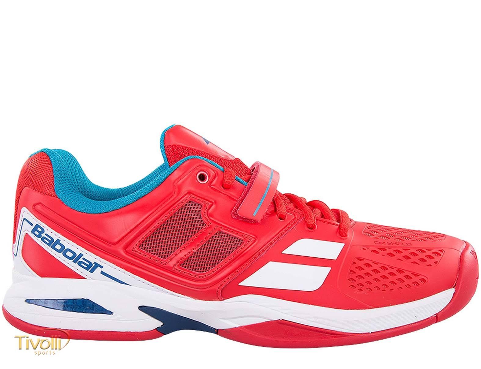 Raquete Mania   Tênis Babolat   Propulse BPM All Court Vermelho e Azul 78817f6f827f7