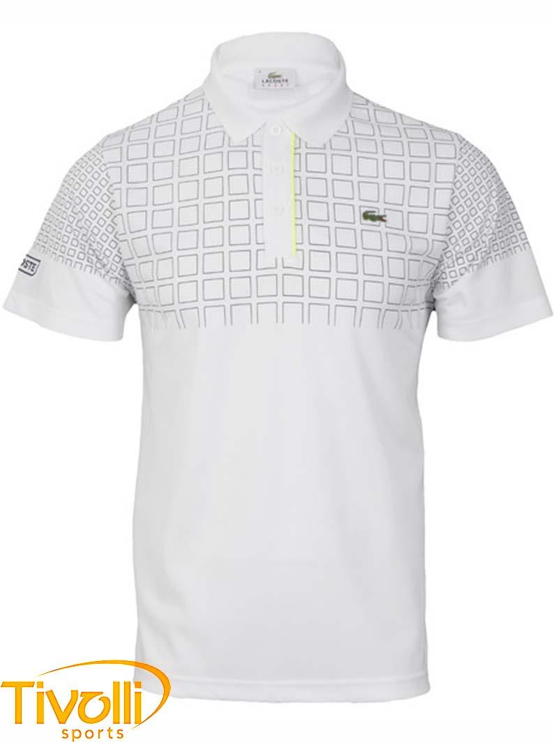Raquete Mania   Camisa Polo Lacoste   Sport Branca e4b6e8d563