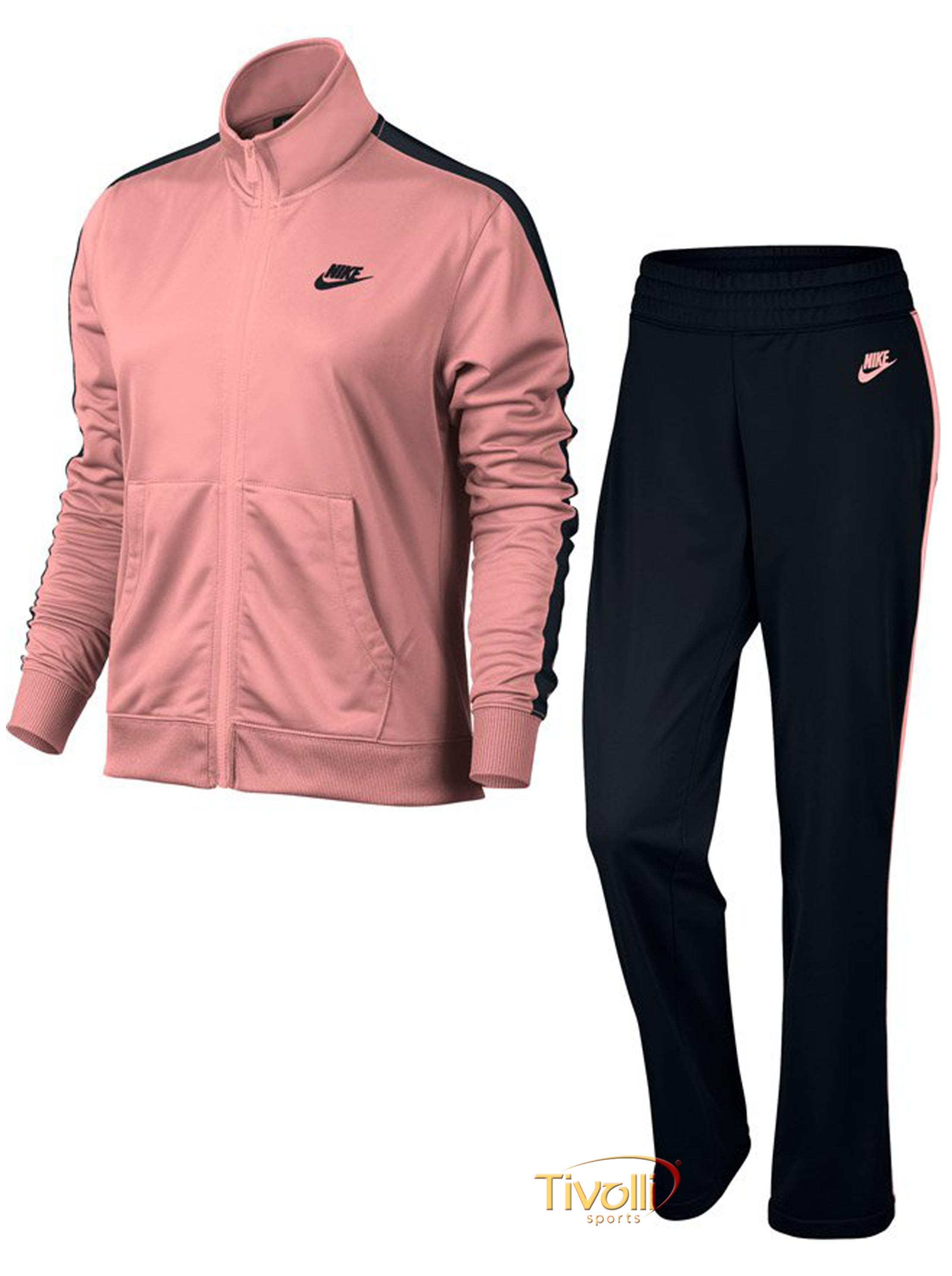 7244a0b3290 Raquete Mania   Agasalho Nike   Sportswear Track Suit Rosa e Preto