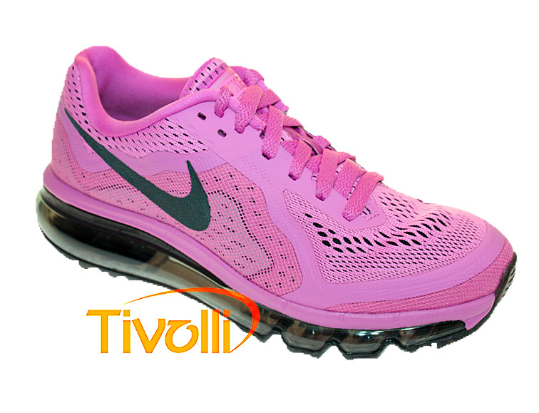 online store a91d6 95eb8 Tênis Nike Air Max Rosa e Preto