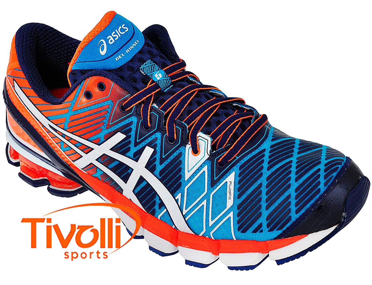 buy online 46898 723f9 Tênis Asics Gel Kinsei 5 masculino marinho, laranja e branco