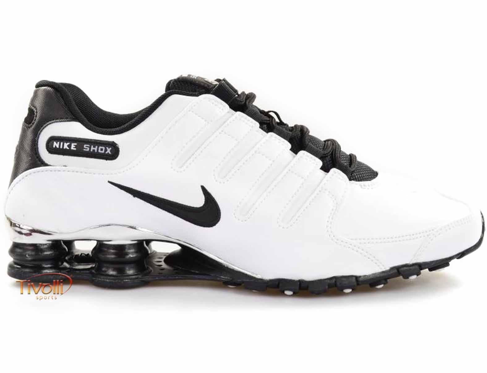 1f5a8778336 Raquete Mania   Tênis Nike Shox NZ Premium   Branco e Preto
