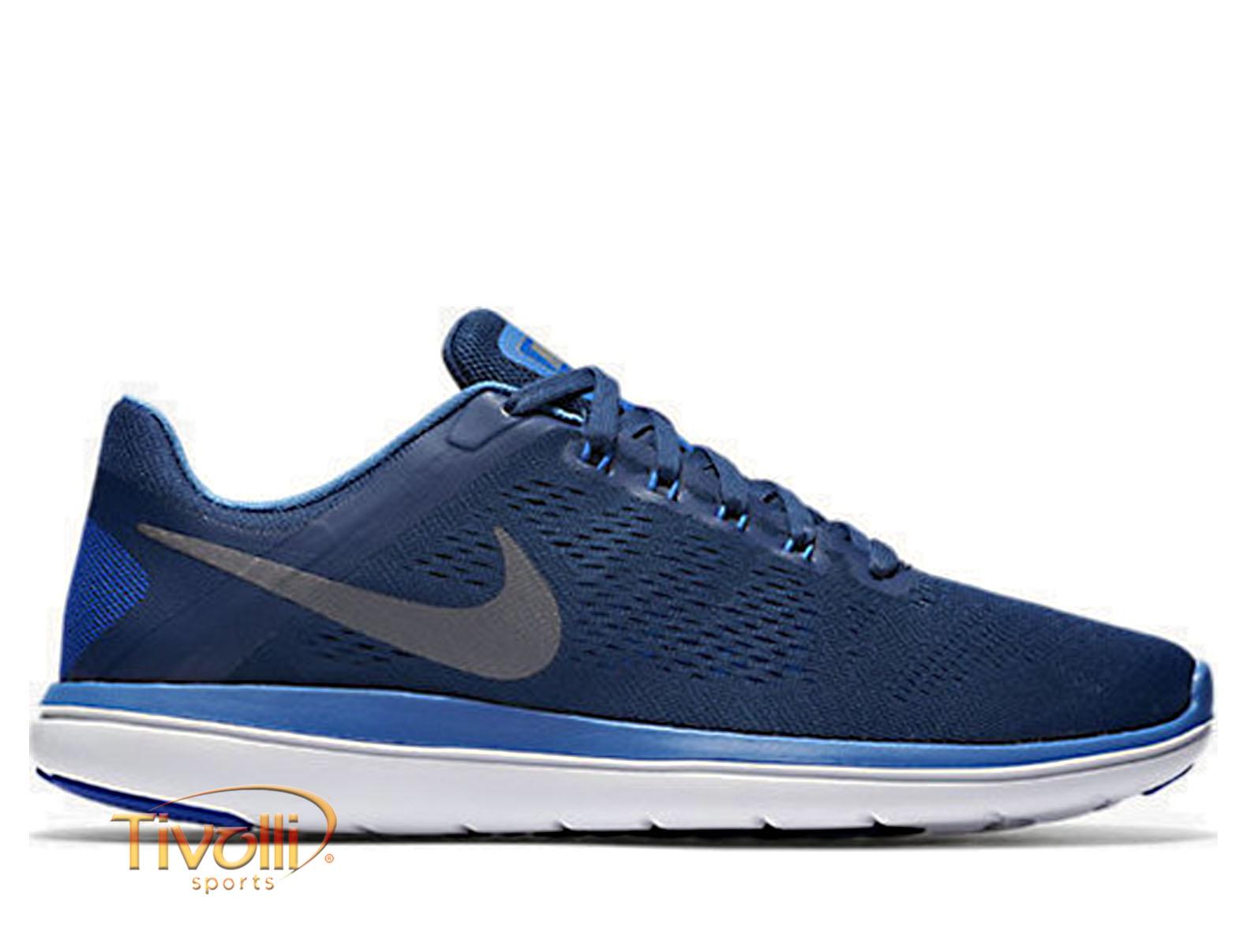 e076599bce Raquete Mania   Tênis Nike Flex 2016 RN   Azul