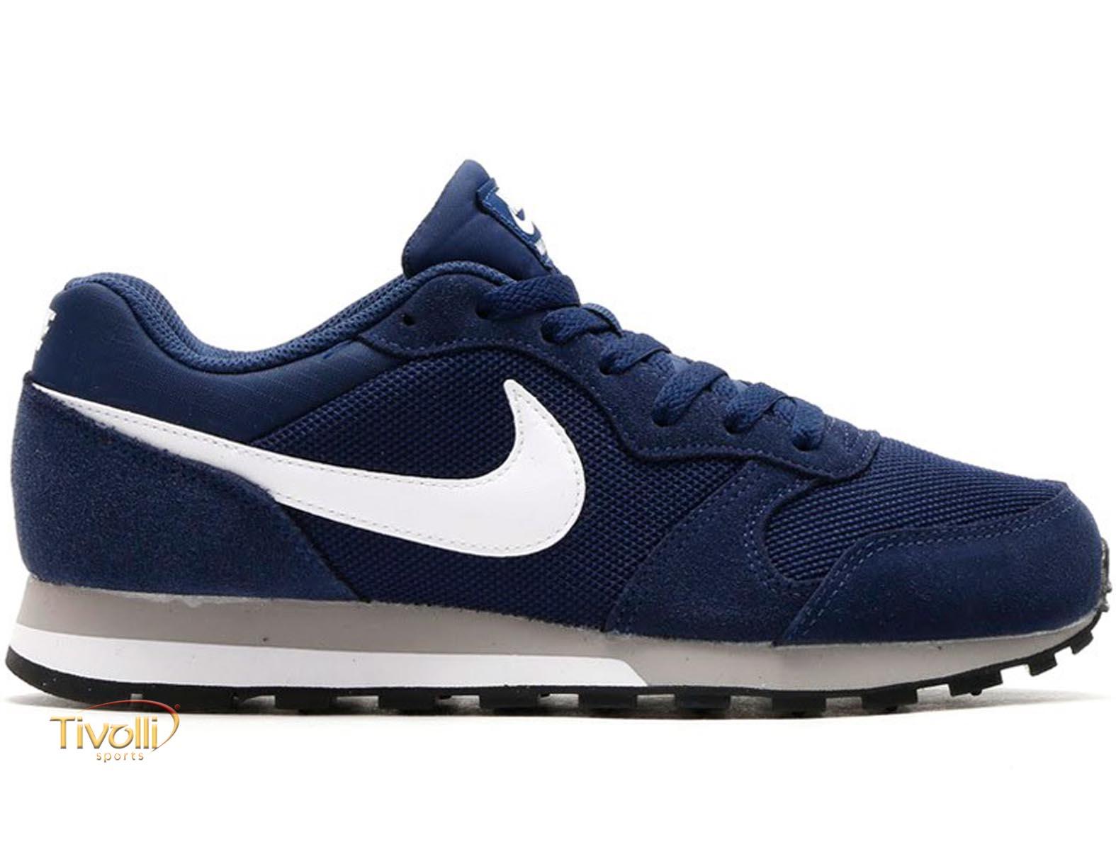 fd9d18865df Raquete Mania   Tênis Nike MD Runner 2   Azul Marinho e Branco