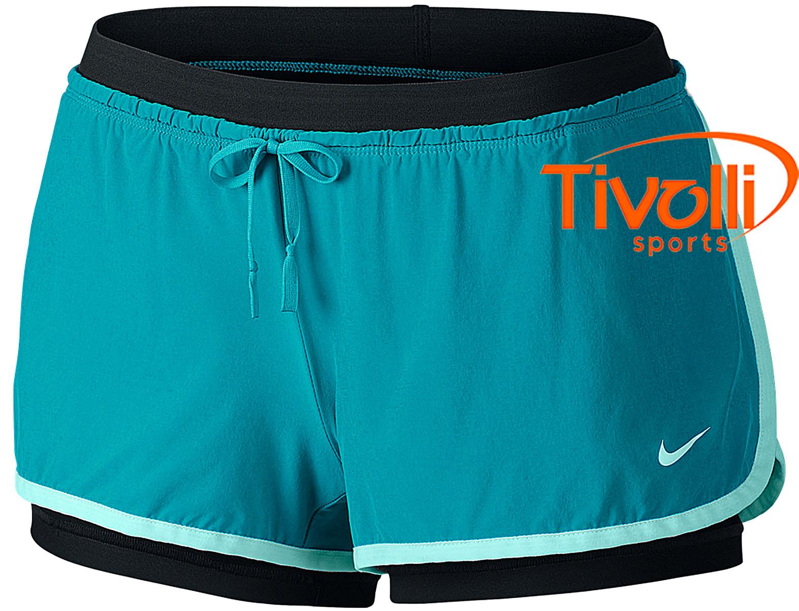 291579fc2cbf1 Raquete Mania   Shorts Nike 2 em 1 Full Flex   feminino azul e preto