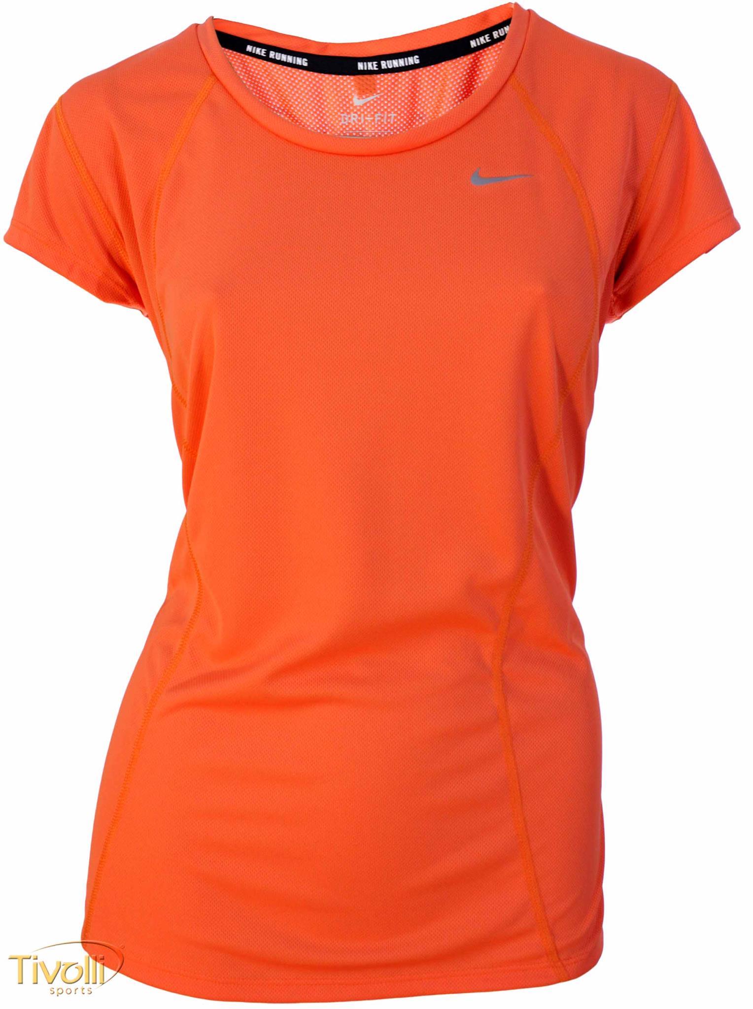 379968c04c67d Raquete Mania   Camiseta Nike Feminina Running Dri- FIT   Laranja