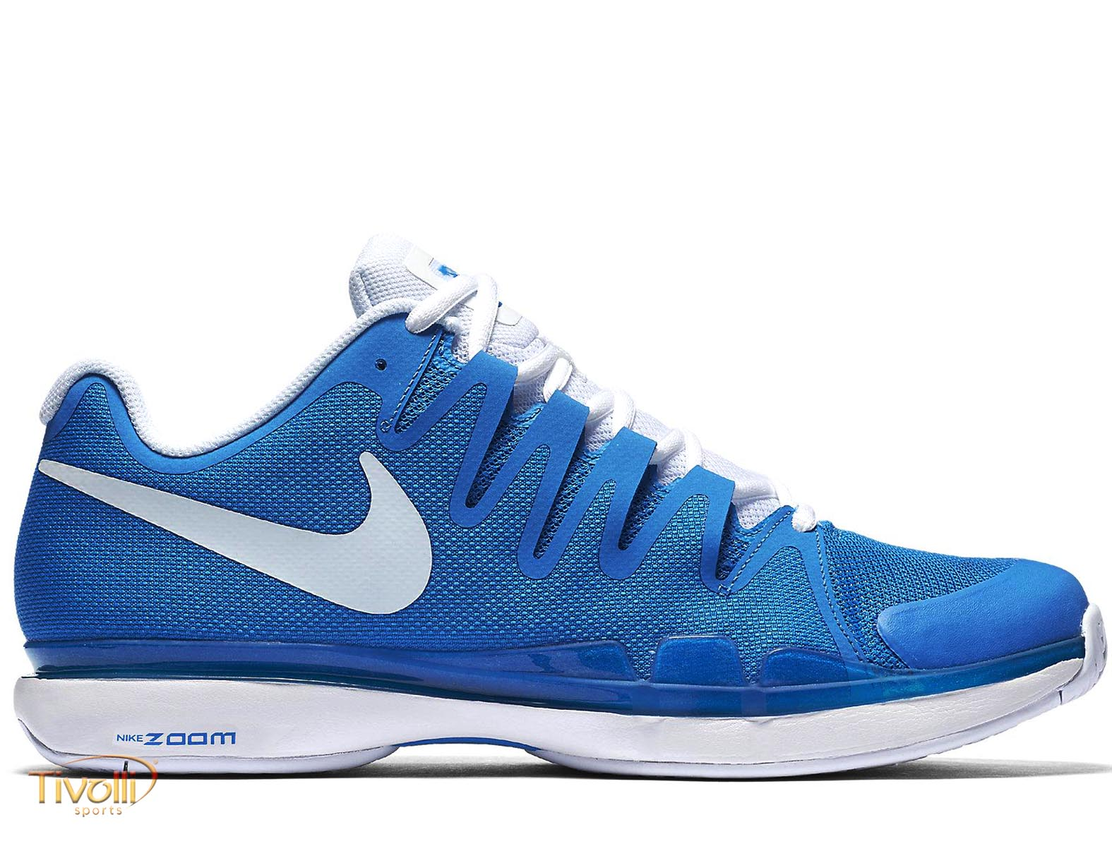 ee7349ff9a1 Tênis Nike Zoom Vapor 9.5 Tour Azul e Branco - Roger Federer. Código  631458  404. Por  R  599 ...