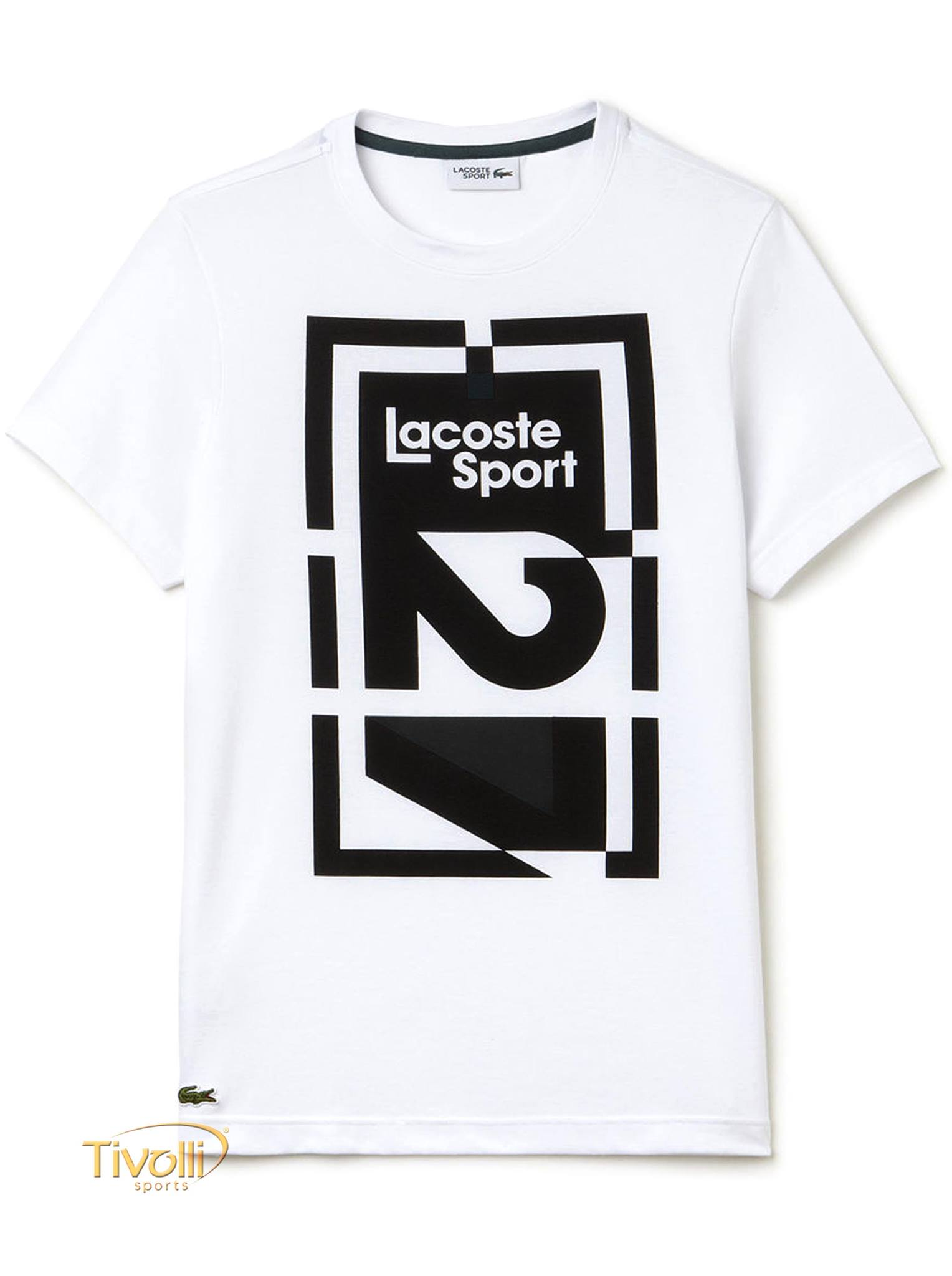 821cca64ae3 Raquete Mania   Camiseta Lacoste Sport Technical Jersey Abstract ...