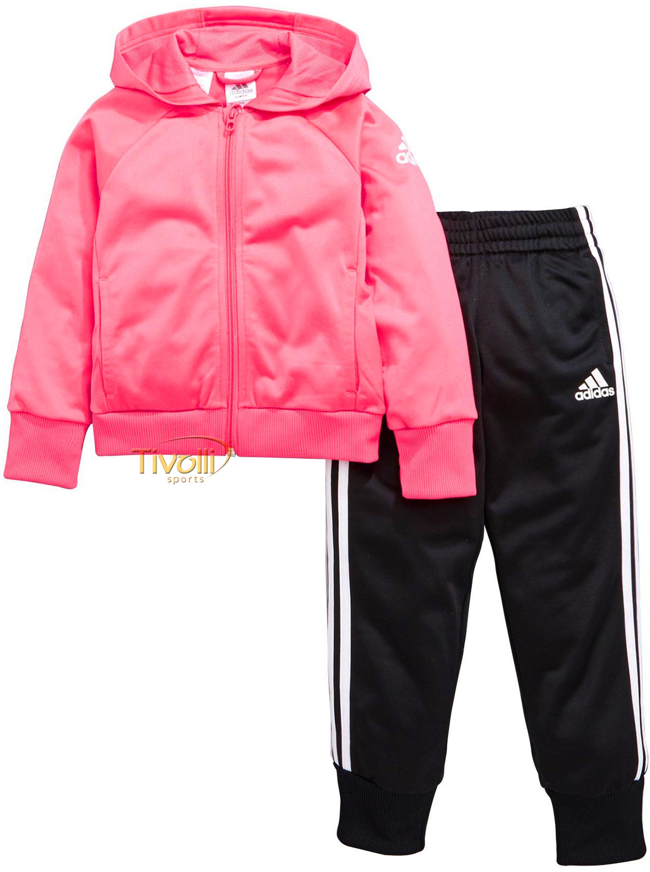 306ebb34010 Raquete Mania   Agasalho Adidas LG KN Tracksuit Infantil   Rosa ...