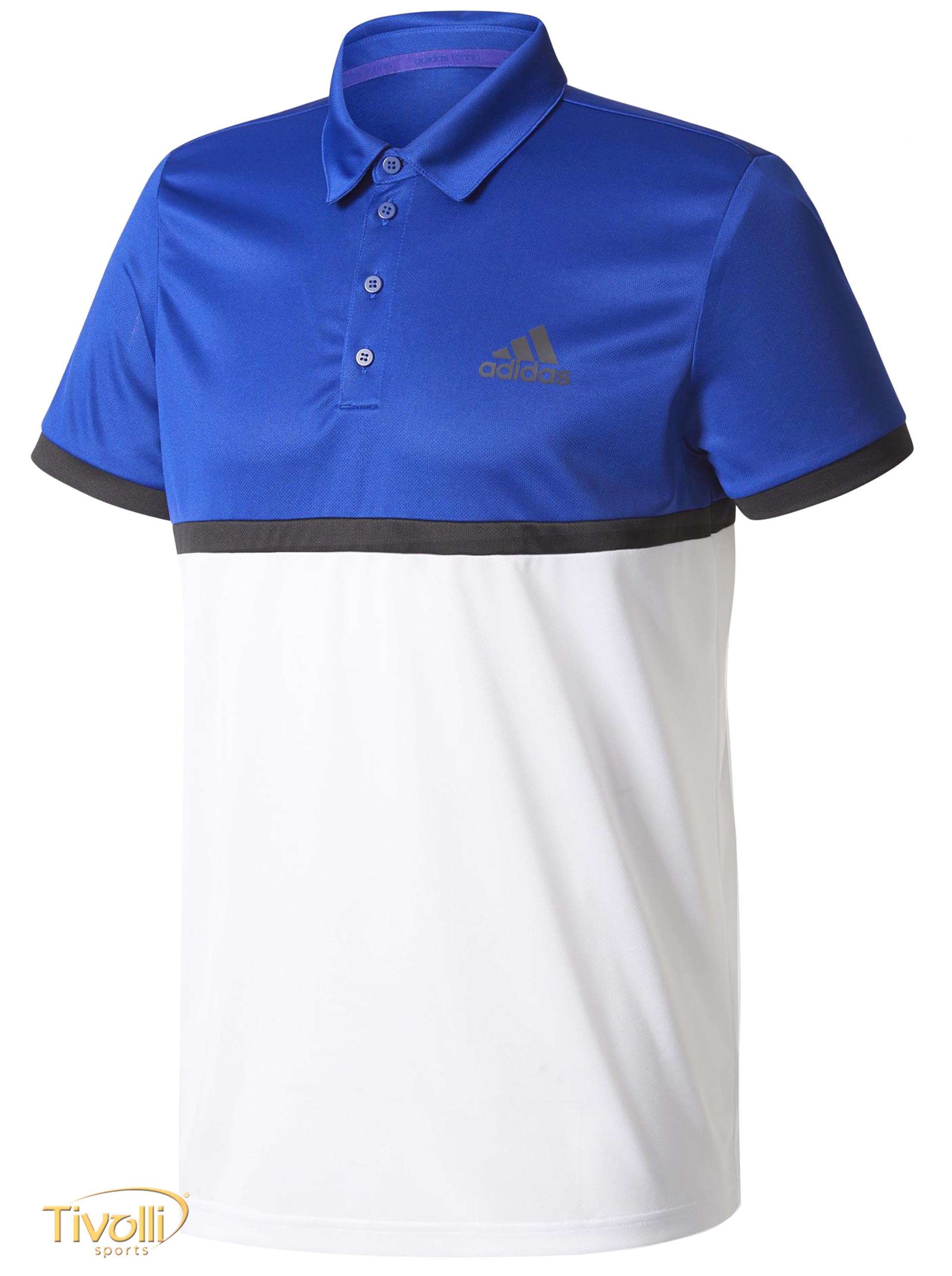 bff1712b53 Raquete Mania   Camisa Polo Adidas Court   Azul