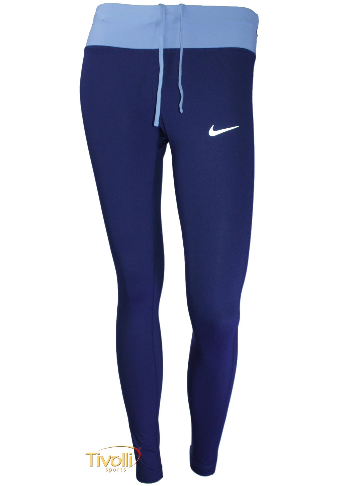 Raquete Mania   Calça Legging Nike Dri-FIT Power Essential   Azul ... e78992d474cbf