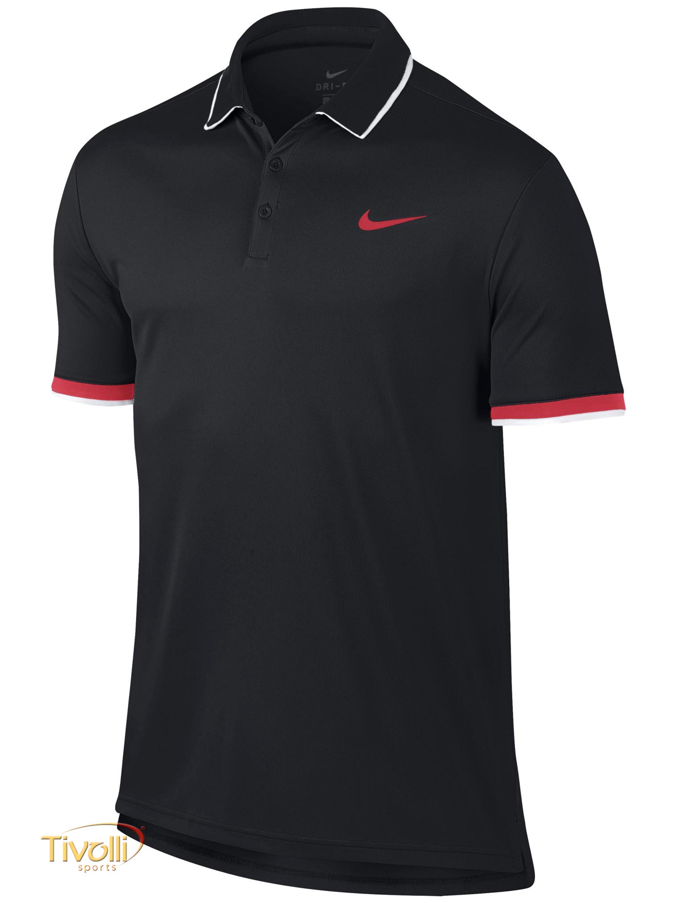 a714a893a92c6 Camisa Polo Nike Court Dry Preta