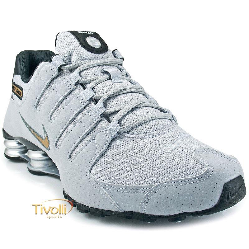 4a9401e8144 Raquete Mania   Tênis Nike Shox NZ   Cinza