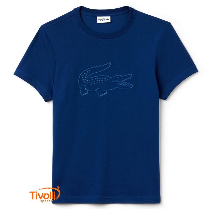 612f2fc1d42da Raquete Mania   Camiseta Lacoste Sport Oversized Croc Tech Jersey ...