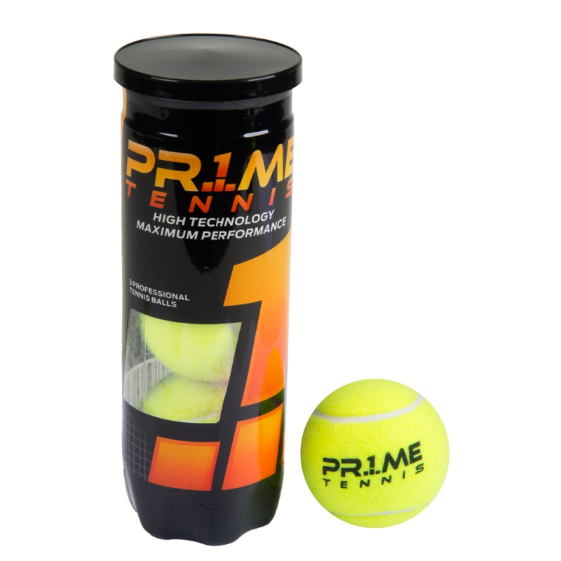 b7054e14f Raquete Mania   Tubo com 03 Bolas para Tênis   Prime Championship